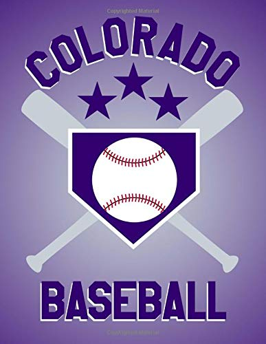 Colorado Baseball: Colorado Baseball Fan Blanked Lined 100 Page 8.5 x 11 inch Notebook Journal for Writing and Taking Notes por Rob Ventana