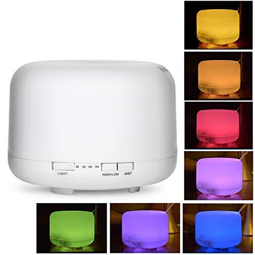 Aroma Diffuser Luftbefeuchter Ultraschall Vernebler Raumbefeuchter 500ml Elektrisch Duftlampe Ätherische mit 7 Farben LED Lichter für Yoga, SPA, Büro, Schlafzimmer, Hotel usw (Typ2)
