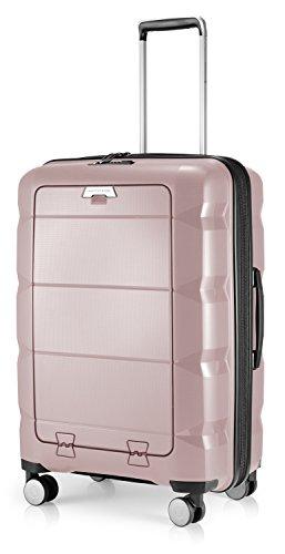 HAUPTSTADTKOFFER - Britz - Valigia rigida con scomparto per laptop Trolley da viaggio espandibile, leggero TSA, 4 ruote, 66 cm, 60 L, Vecchio rosa