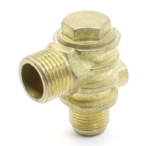 Gold Tone 1Femme 2filetage mâle Laiton Clapet anti-retour pour compresseur
