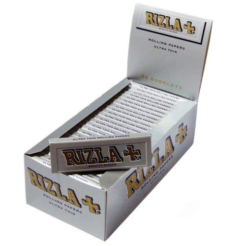 Rizla Regular Silber Rolling Paper Full 100Stück Packungen/Booklets (Gummi-blatt Dünne)