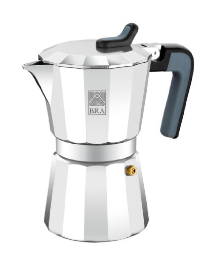 BRA Deluxe2 - Cafetera, capacidad 12 tazas, aluminio