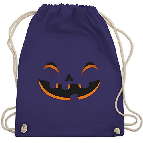 Halloween - Kürbisgesicht Kostüm - Unisize - Lila - WM110 - Turnbeutel & Gym Bag (Für Erwachsene Gruppe Lustig, Halloween-kostüme)