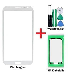 iTech Germany Displayglas Reparatur-Set für Samsung Galaxy Mega 6.3 Weiss - Front Display Glas für i9200 i9205 LTE + 3M Klebefolie und Werkzeuge