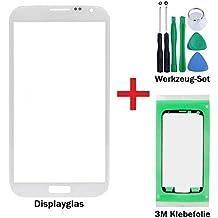 iTech Germany Pantalla de cristal kit de reparación para Samsung Galaxy Mega 6,3 en Blanco - Panel frontal táctil para i9200 i9205 LTE + 3M Adhesivo y de 7-Piezas Juego de herramientas