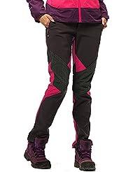 Arcweg pantalon long de randonnée pour femme pantalon coupe-vent résistant à l'eau et doublé de polaire de cyclisme camping