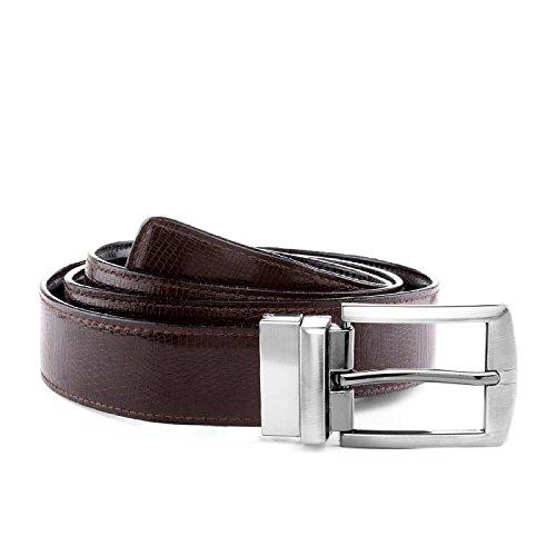 Laurels Men\'s Black & Brown Reversible Synthetic Leather Belt (Pack Of 1)- BVT-0209