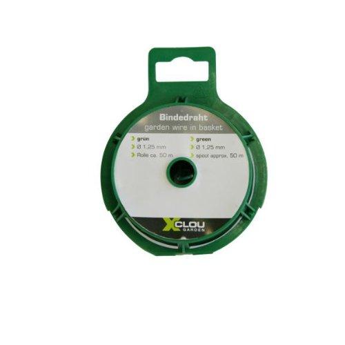Xclou Fil de jardin avec revêtement Diamètre 1,25 mm L 50 m Vert 10.4 x 5.6 x 8.7 cm 360231