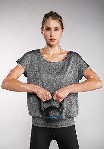 Venice Beach Damen Ria DMELB Bodyshirt Shirt, Graphit Black, 2XL Preisvergleich