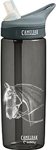 camelbak-trinkflasche-eddy-600-ml-charcoal-mit-pferdemotiv