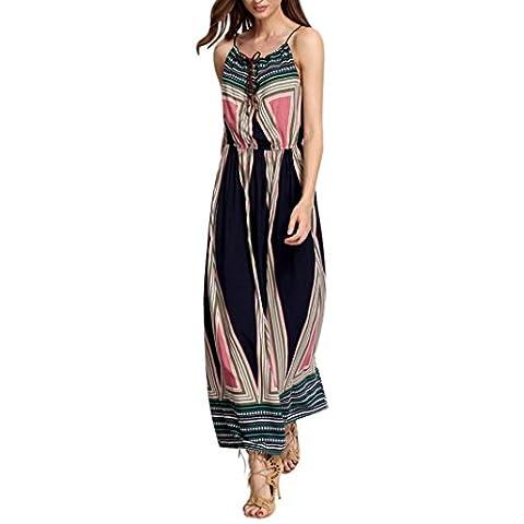 Yogogo - Robes - Sundress - Femmes - Robe longue Boho été - Robe de plage