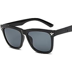Aierwish Herren und Damen Neue Persönlichkeit Stern Sonnenbrille Mit Brillenbox (1)