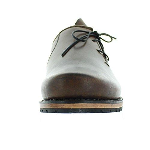 dirndl+bau , Chaussures de ville à lacets pour homme marron foncé