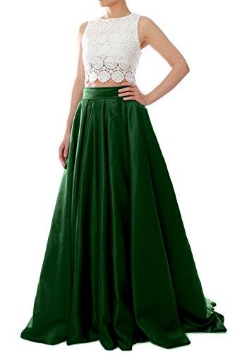 MACloth - Robe - Ajourée - Femme Vert - Vert foncé