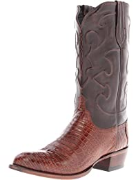 Lucchese Charles-Sien Bly Croc/Dkbrn Derby Cal Classici Maschile Riding Boot, Sienna, 2E 11 U.S.