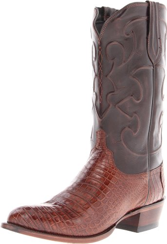Chuck Boot Taylor Classic (Lucchese Classics CharlesSien Bly Croc/Dkbrn Derby Cal Reiten Boot, Sienna, 11 2E U.S.)