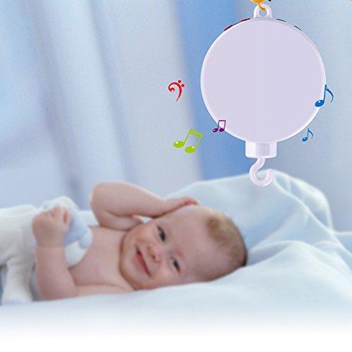 Preisvergleich Produktbild GHB Spieluhr Baby elektrische Spieluhr Spielzeug mit 12 Schlaflied und Micro-SD-Speicherkarte für Babymobile