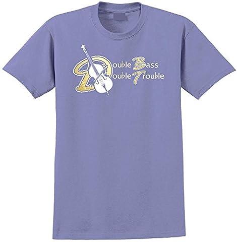 Double Bass Double Trouble - Violet Lavande T Shirt Taille 76cm 30in Sm 7-8 ans MusicaliTee