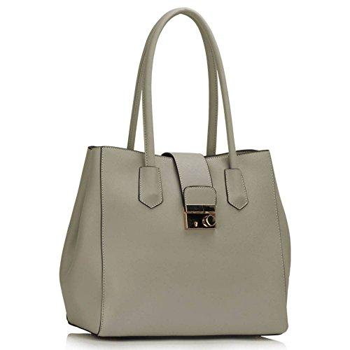 dc7946cd281ce LeahWard Große Frauen Mode Tasche Qualität Schultertasche Nette Handtaschen  für Frauen Schule CW450 (Nude Patentbeutel