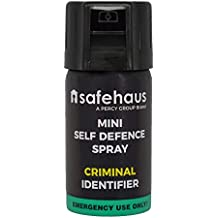 TIW Mini Self Defence Spray Criminal Identifier, Black