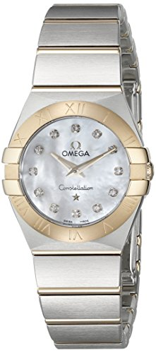 Omega Women's 12320246055002 Constellation Analog Display Swiss Quartz Silver Watch