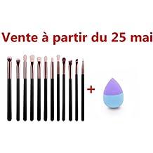 Yogogo - 12 Pcs brosse cosmétiques - maquillage jeux de brosse - Eyebrow Brush Kits Outils