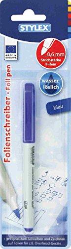 STYLEX 32795 Folienschreiber, wasserlöslich, blau