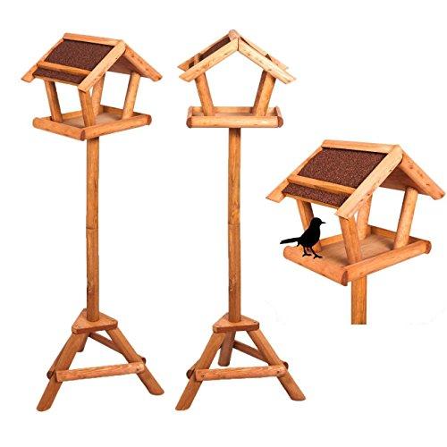 Stabiles Vogelhaus mit Ständer aus wasserabweisendem Bitumen Vogel-Futterhaus inkl. Montagematerial Höhe 110 cm