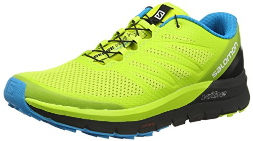 Salomon Sense PRO Max, Scarpe da Trail Running Uomo, Giallo (Lime Punch./Black/Hawaiian Ocean 000), 44 EU