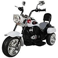 MUNMUN TOY Baby Bullet Bike for Kids Ride on Battery Operated Bike White Color Bike for Boys 1 to 4 Years 16-203