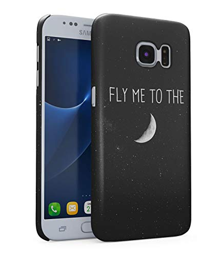 Hülle Hardcase Kompatibel mit Samsung Galaxy S6 Fly Me to The Moon Galaxis Kosmos Mond Universum Sterne Space Stars Sky Galaxy Planet Solar System Quote Zitat Travel eng Anliegendes Dünnes Handyhülle (Solar Planet Ausschnitte System)