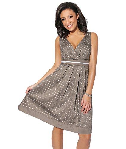 KRISP Damen 50er Jahre Vintage Kleid Swing Midi Knielang