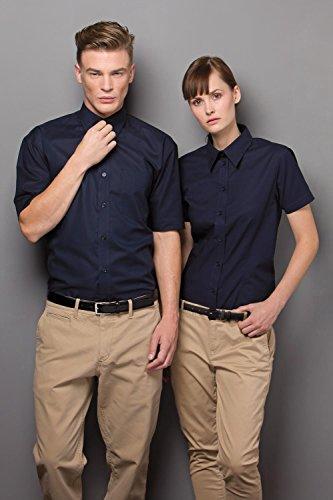 Kustom Kit travail Oxford chemise à manches courtes français marine