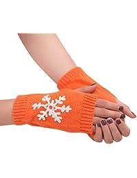 Armstulpen Mädchen Arm Winter Handschuhe Lange Geschenk Warme Fingerless Für Frauen Schnee Muster Stricken