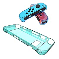 Tenthree Protective Case Cover - TPU Clear Cover Case for Nintendo Switch and Switch Joy-Con Controller (Thin Blue)