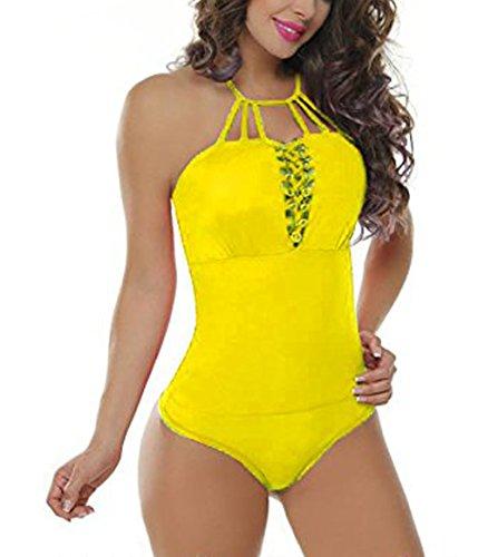 Body Colombiano Estampado Varios Colores - Body Con Faja 022 (S/M, AMARILLO)