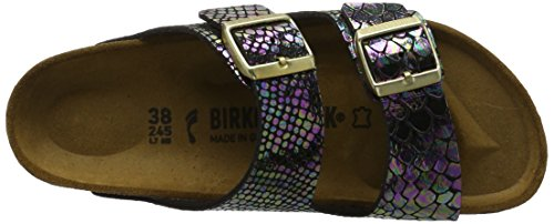 Birkenstock Arizona Birko-flor, Mules femme Mehrfarbig (Shiny Snake Black Multi)