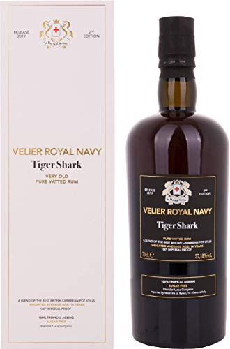 Velier Royal Navy Tiger Shark Pure Vatted Rum Release 2019 Rum (1 x 0.7 l) -