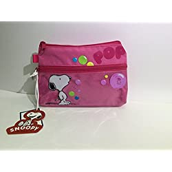 """Astuccio rettangolare con motivo: Snoopy """", colore:rosa"""