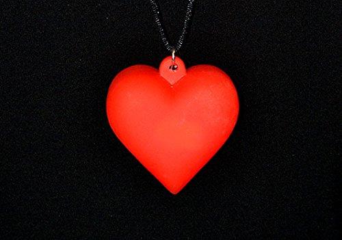 EL CARNAVAL Der Karneval Halskette Herz mit Licht