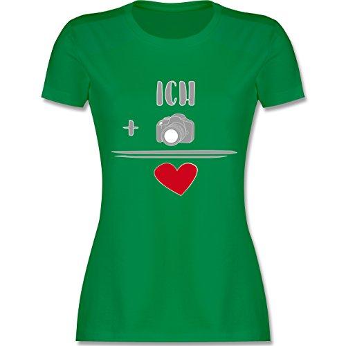 Statement Shirts - Fotografie-Liebe - tailliertes Premium T-Shirt mit Rundhalsausschnitt für Damen Grün