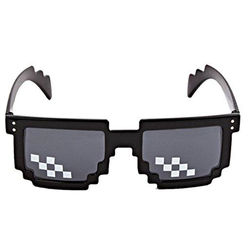 Ularma Lunettes de vie Thug 8 bits Pixel Traiter Avec Elle Lunettes Unisexe Jouet de lunettes de Soleil