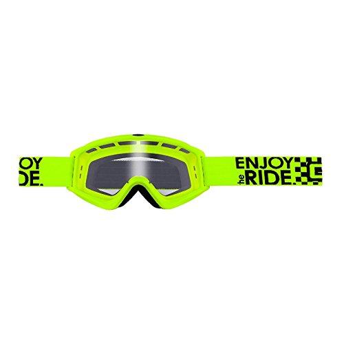 O'Neal B-Zero Goggle Moto Cross MX Brille Downhill Enduro Motorrad Mountainbike, 6025-10, Farbe Neongelb