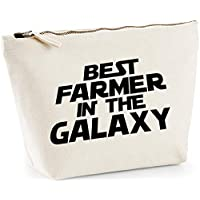 Hippowarehouse Best Farmer in the Galaxy printed make up cosmetic wash bag 18x19x9cm