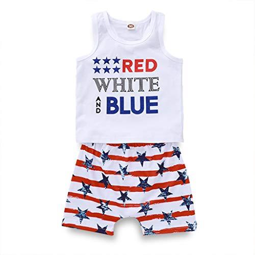 Junge Tag der Unabhängigkeit Anzug Hip-Hop Sommer Bodys Baby Gemütlich Trägerlos Blusen Overalls Party Mode Kinder Jumpsuit