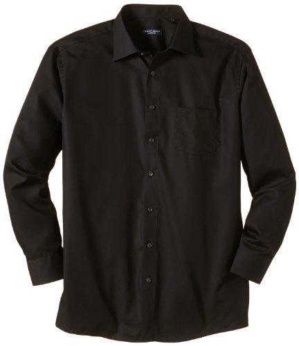 CASAMODA Herren Regular Fit Business Hemd 006050, Gr. Kragenweite: 40, Schwarz (schwarz 80)