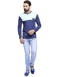 MakeOver Light Blue Cotton Slim Fit Jeans For Men