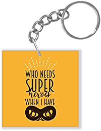 YaYa Cafe Fathers Day Gifts Super Hero Dad Keychain Keyring For Dad
