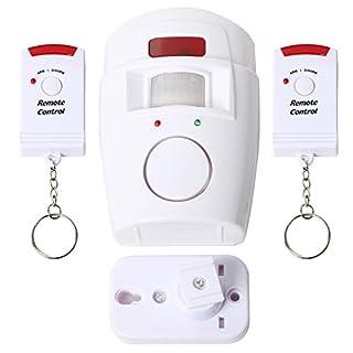 Trixes batteriebetriebener Bewegungsmelder Sensor-Alarm mit Fernbedienungen für Garten Schuppen und Wohnwagen