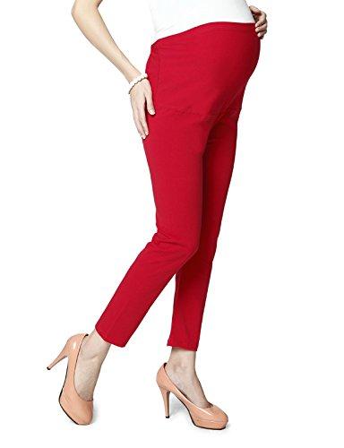 Maternity leggings in Red